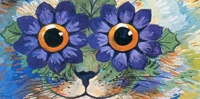 Poster with art by Louis Wain