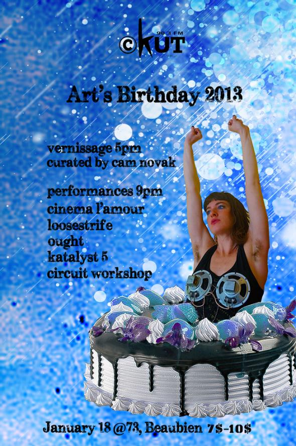 Arts Birthday Poster