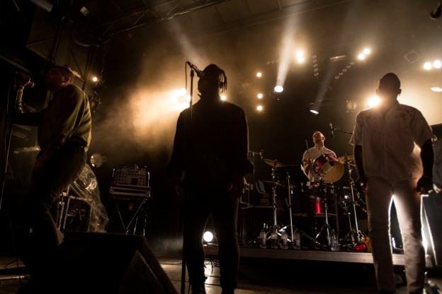 Young Fathers perform during the first day of the Osheaga Music and Arts Festival in Montreal on Friday, July 31st, 2015. CREDIT MANDATORY PHOTO BY TIM SNOW/evenko